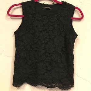 Zara Floral Lace Sleeveless Top